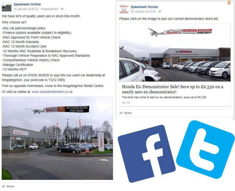 Various Social Media Adverts